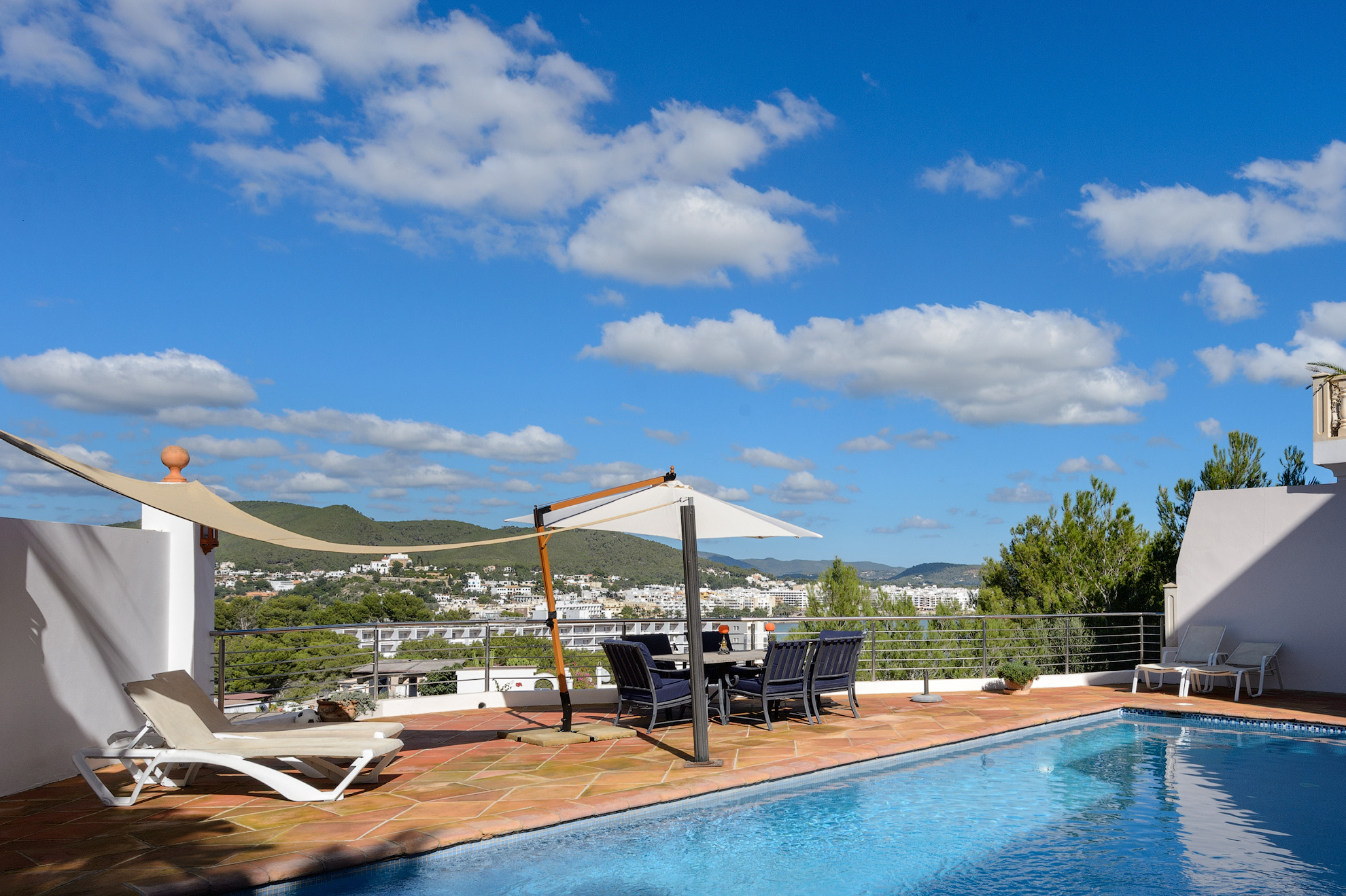 Nice house with large private pool and seaviews in Santa Eulalia